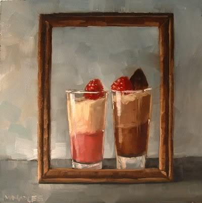 """""""Double Good Taste"""" original fine art by Michael Naples"""