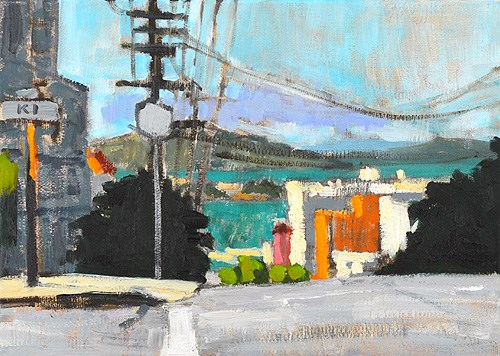 """San Francisco Bay from Russian Hill"" original fine art by Kevin Inman"