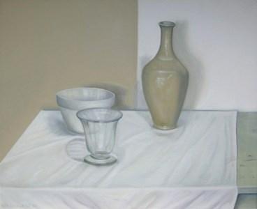 """""""White Still Life II"""" original fine art by Pera Schillings"""