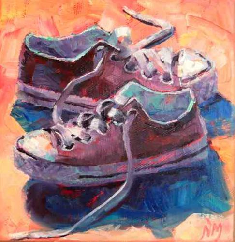 """Fave Converse"" original fine art by Nora MacPhail"