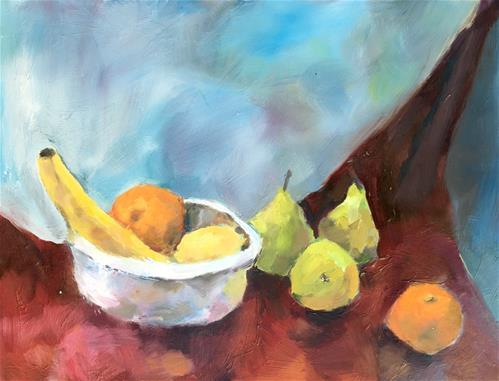 """""""Fruit Still Life"""" original fine art by Nava Judith"""