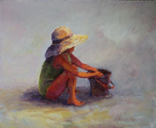 """""""Child's Play Figurative Paintings by Arizona Artist Amy Whitehouse"""" original fine art by Amy Whitehouse"""