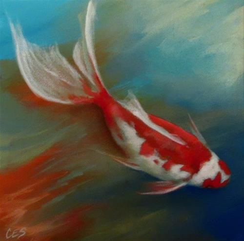 """Keep Swimming"" original fine art by ~ces~ Christine E. S. Code"