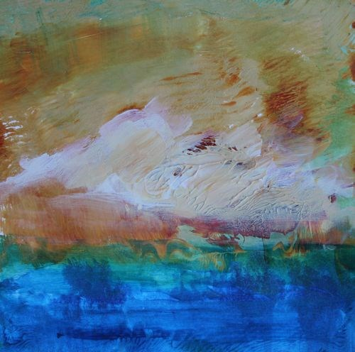 """Summer Breeze, Abstract Seascapes by Arizona Artist Amy Whitehouse"" original fine art by Amy Whitehouse"