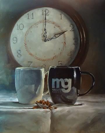 """2 O'Clock Coffee"" original fine art by Michael Naples"