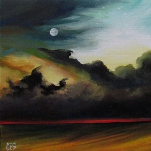 """""""Red Horizon"""" original fine art by ~ces~ Christine E. S. Code"""