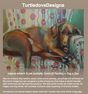 """""""TurtledoveDesigns, a Grand Reopening"""" original fine art by Kimberly Santini"""