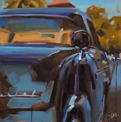 """Cool in the Shade"" original fine art by Carol Marine"