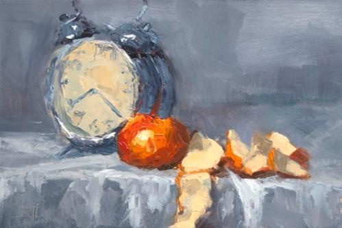 """The clock is ticking"" original fine art by Johan Derycke"
