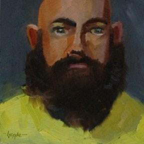 """""""FACE No. 100"""" original fine art by Linda Popple"""