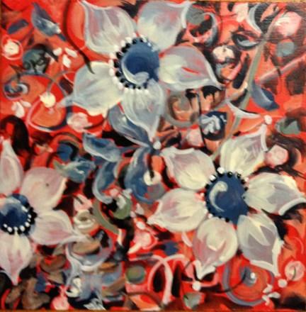 """Red Tile #6"" original fine art by Sue Dion"