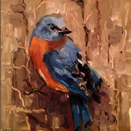 """Hangin' On"" original fine art by Marcia Hodges"