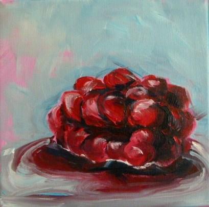 """Raspberry"" original fine art by Sabine Hüning"
