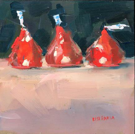 """#939 Christmas Past"" original fine art by Lisa Daria"