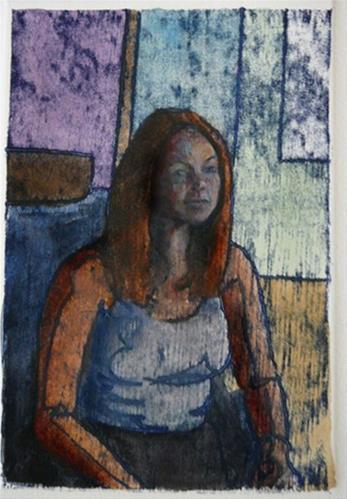 """Trace Monotype: Belle (& a video interview of artist Dan Sprick)"" original fine art by Belinda Del Pesco"
