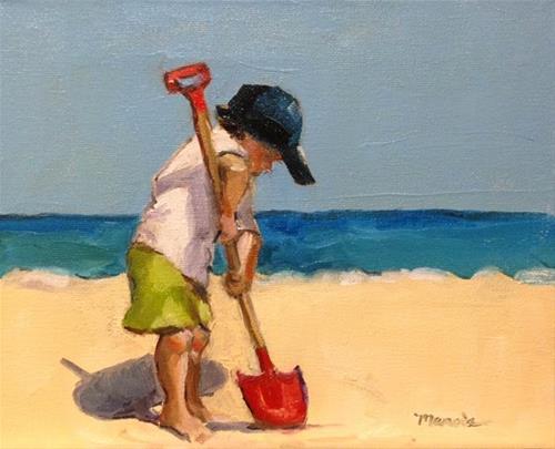 """Little Digger"" original fine art by Marcia Hodges"