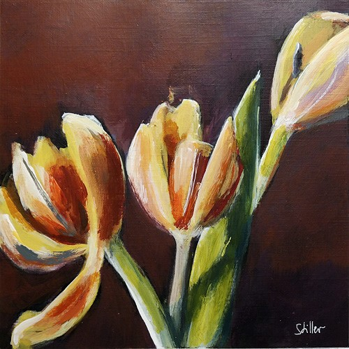 """2729 February Tulips"" original fine art by Dietmar Stiller"