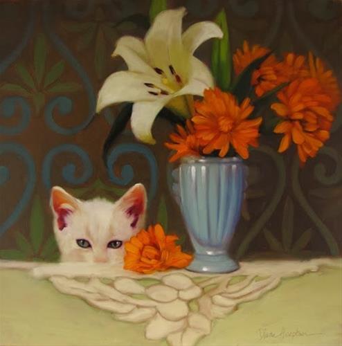 """""""The Interloper"""" original fine art by Diane Hoeptner"""