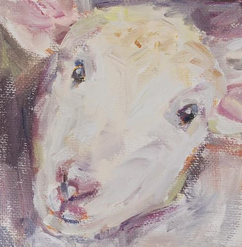 """Little Lamb, Original oil by Carol DeMumbrum"" original fine art by Carol DeMumbrum"