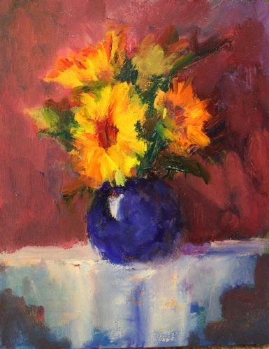 """""""Old World Floral, Floral Paintings by Arizona Artist Amy Whitehouse"""" original fine art by Amy Whitehouse"""