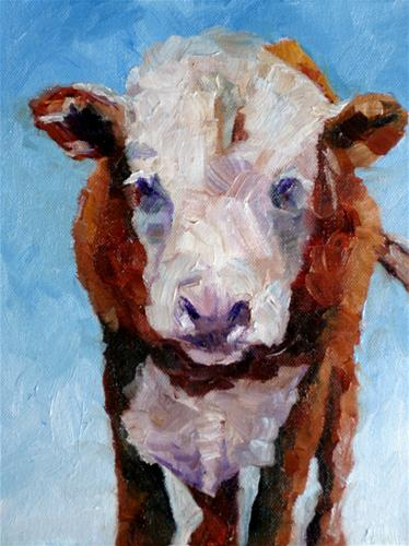 """Moo"" original fine art by Kristen Dukat"