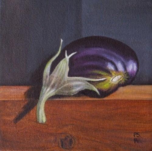 """Young  Aubergine"" original fine art by Pera Schillings"