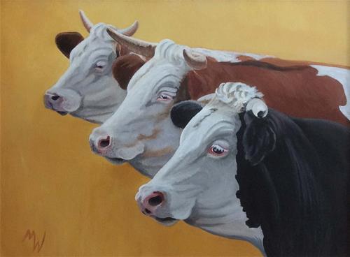 """Three Sisters"" original fine art by Michelle Wolfe"