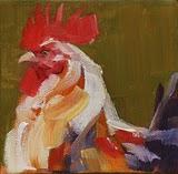 """""""fluffed up"""" original fine art by Carol Carmichael"""