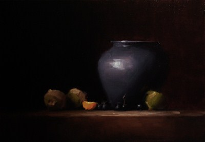 """Blue Vase with Turnips"" original fine art by Neil Carroll"