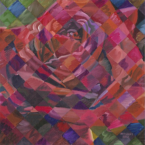 """Rose No. 7"" original fine art by Randal Huiskens"