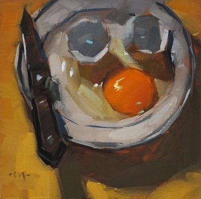 """Who Is It?"" original fine art by Carol Marine"