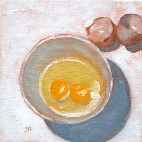 """breakfast-time"" original fine art by Sandy Haynes"