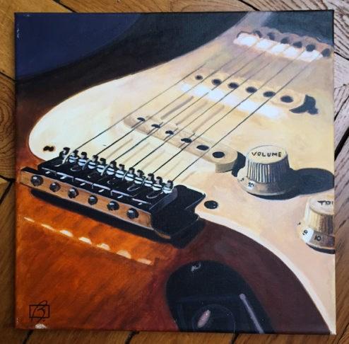 """Australian Fender III"" original fine art by Andre Beaulieu"