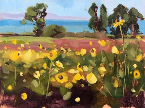 """Bloom on the Bluffs"" original fine art by Sharon Schock"