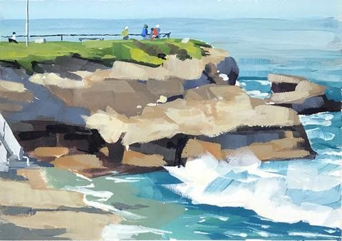 """La Jolla"" original fine art by Sharon Schock"