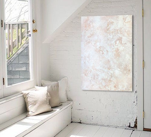 """Rose Gold & White"" original fine art by Sunny Avocado"