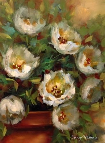 """""""Wind Tossed Tulips and How to Tell When a Dream Comes True by Floral Artist Nancy Medina"""" original fine art by Nancy Medina"""