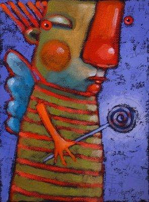 """Trixie Shines Her Little Light"" original fine art by Brenda York"