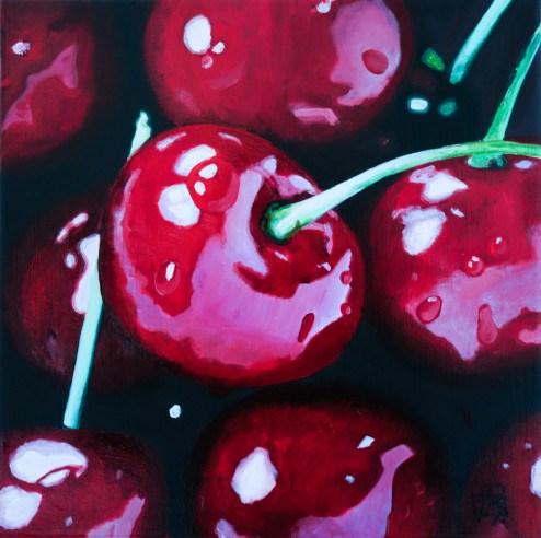 """Oh Cherry Cherry"" original fine art by Andre Beaulieu"