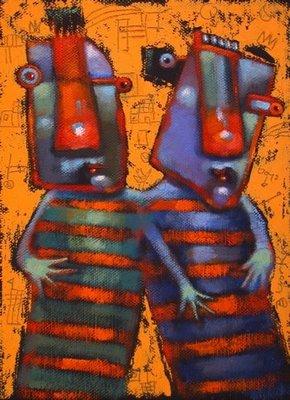 """""""Double Trouble"""" original fine art by Brenda York"""