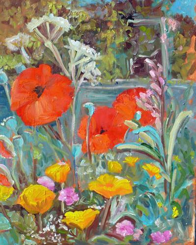 """James Bay Garden"" original fine art by Darlene Young"