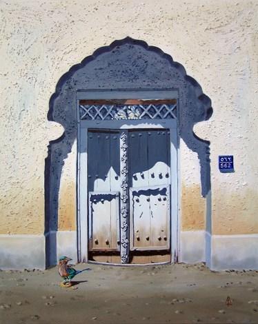 """Bayt 562, Muscat, Oman"" original fine art by Alix Baker PCAFAS AUA"