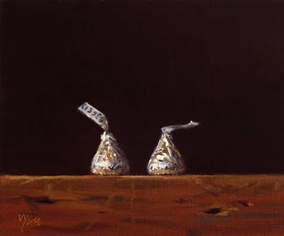 """Still Life with Chocolate Kisses"" original fine art by Abbey Ryan"