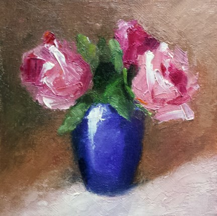 """Pinks"" original fine art by Cindy Haase"