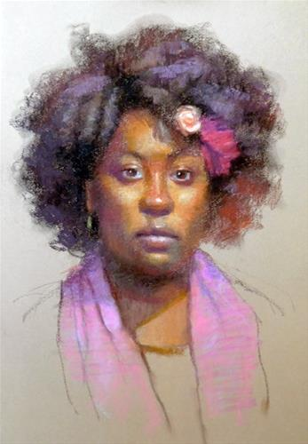 """Pastel portrait"" original fine art by Kathy Weber"