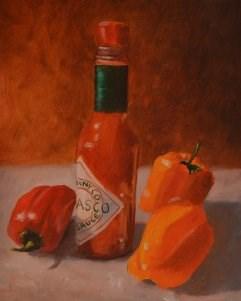 """Tabasco Sauce and Friends"" original fine art by Robert Frankis"