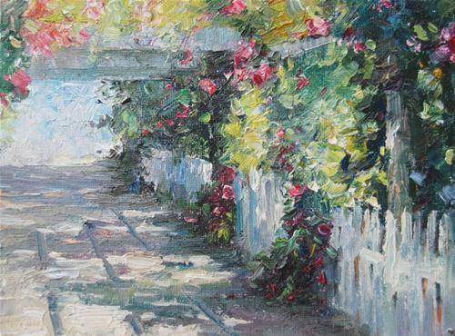 """""""Garden"""" original fine art by Kelvin Lei"""