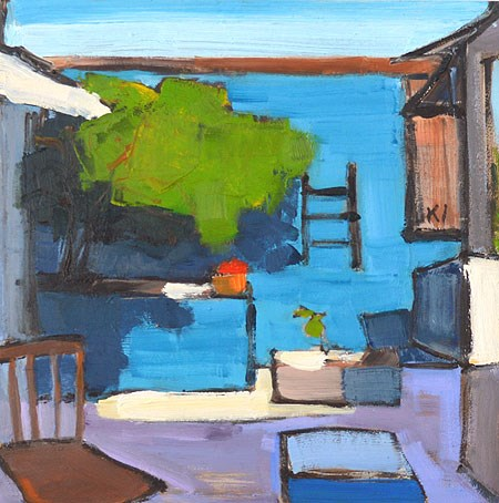 """The Blue Patio"" original fine art by Kevin Inman"