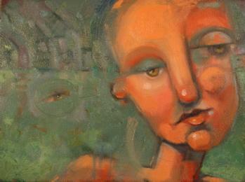 """Daydream Green"" original fine art by Brenda York"