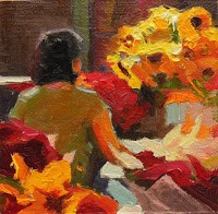 """""""Beauty, Home, Freedom, Peace  miniature oil paintings by Robin Weiss"""" original fine art by Robin Weiss"""